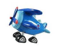 Blue Bi-Plane Bobble Piggy Bank Biplane