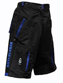 Astek Men's Blue Black MTB BMX Baggy Padded Mountain Bike