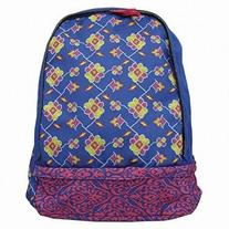 Xhilaration Blue Damask Backpack with Laptop Sleeve Sport School Travel Pack