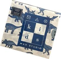 Max Studio Kids Blue Dinosaur Twin Sheet Set