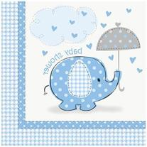 Blue Elephant Baby Shower Lunch Napkins