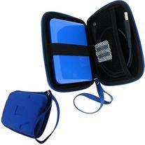 iGadgitz Blue EVA Hard Travel Case Cover for Western Digital