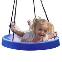 BLUE: FUN! & Safe! The Super Spinner Swing, Tire Swing, Tree
