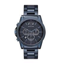 AX Armani Exchange Men's Blue IP Bracelet Watch