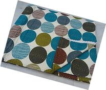 Tribal Asian Textiles Blue Kantha Quilt in Polka Dot, Kantha
