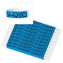 "WristCo Blue Penguins 3/4"" Tyvek Wristbands - 500 Pack Paper"