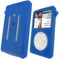iGadgitz Blue Silicone Skin Case Cover for Apple iPod