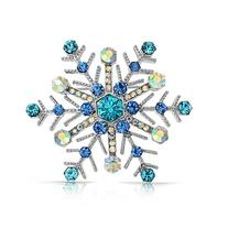 Bling Jewelry Simulated Sapphire Crystal Snowflake Pin