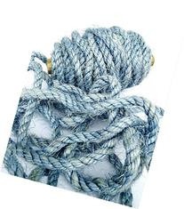 100' Blue Sisal Rope, Dyed Ice Blue Color