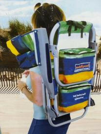 Tommy Bahama Blue Striped Backpack Chair