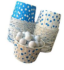 Outside the Box Papers Blue and White Polka Dot Candy Nut
