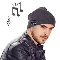 MOCREO Fashion Bluetooth Knit Hat with Stereo Headphones and
