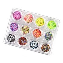 BMC Cool 12pc Neon Matte Multicolored Multi-shaped Nail