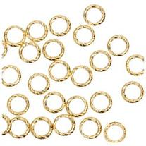 BMC Cute 100pc Gold Metal Twisted Cut-Out Ring Frame Nail