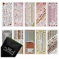 BMC 10 Sheet Nail Art Water Transfer Stickers Tattoo Effects