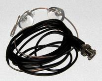 Bnc Scanner Radio Receiver Glass Mount Wire Antenna with 2