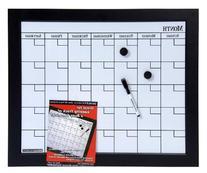 Dooley Boards Black Framed Magnetic Calendar Dry Erase Board