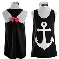 SlickBlue Womens Sleeveless Boat Anchor Tank Top Back