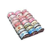 Morex Bobbin Ribbon for Scrapbooking, Welcome Baby, 24-Pack