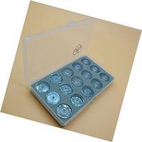 HONEYSEW Box Of 15 Bobbins Plastic For Singer 1425N 1425U