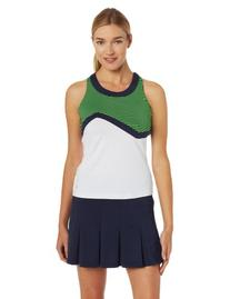Bollé Women's Electric Surge Color Block Tennis Top, White