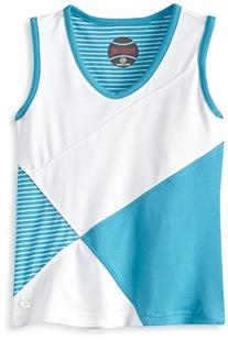 Bolle Girl's Forever Young V-neck Tank, Aqua, X-Small