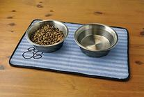 DII Bone Dry Stripe Embroidered Paw Print Pet Mat for Food,