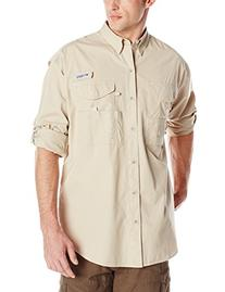 Columbia Men's Bonehead Long Sleeve Shirt, Fossil, Medium