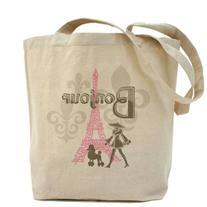 CafePress - Bonjour Paris 2 Tote Bag - Natural Canvas Tote