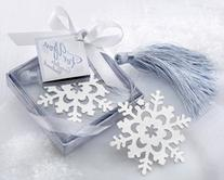 """Snowflake"" Bookmark with Silver Finish and Elegant Ice-Blue"
