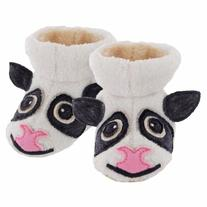 Acorn Cow Booties for Infant/Toddler, White, TXXL