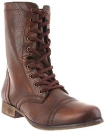 Steve Madden Women's 'Troopa' Leather Boots, Brown, Size 8
