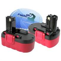 2-Pack Bosch 18V Battery Replacement - Compatible with Bosch