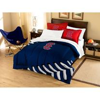 MLB Boston Red Sox Applique Comforter with Pillow Shams,