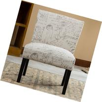 Roundhill Furniture Botticelli English Letter Print Fabric