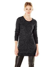 BCBGeneration Women's 2-Color Boucle Tunic Sweater, Black/
