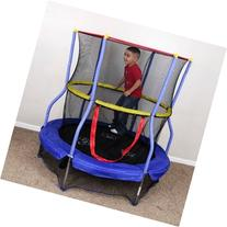 Bounce and Learn Round Trampoline with Safety Enclosure,