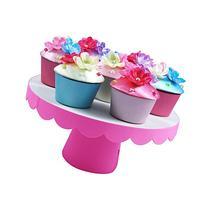 Pink Poppy Bouquet Cupcake Trinket Box