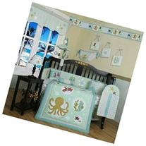 Boutique New Sea World Animals 13PCS CRIB BEDDING SET By
