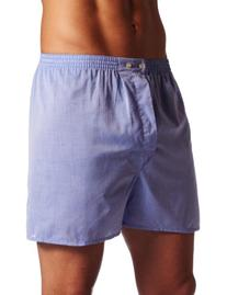 Robinson Apparel Cotton Broadcloth Boxer Short, WHITE, Small