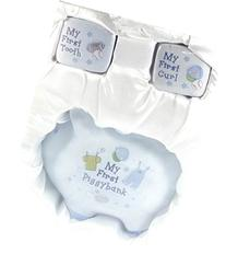 Baby Boy 3 Piece Ceramic Keepsake Set