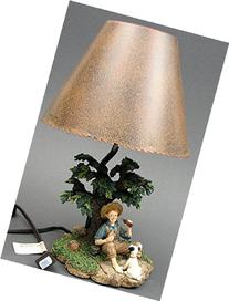 Boy Fishing Drinking Coke Lamp