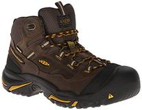 KEEN Utility Men's Braddock Mid Steel-Toed Boot,Cascade