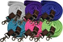 Showman 7.5' Braided Cotton Roping Reins with Scissor Snaps