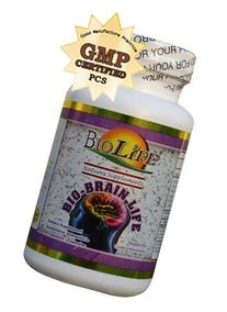 Bio Brain Life 60 Caps Supplement with Lecithin, Ginseng,