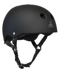 Triple 8 Brainsaver  Skateboard Helmet,All Black Rubber