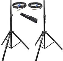 Pair of Rockville Tripod Speaker/Lighting Stands+ 20 Foot 1/