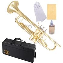 Glory Brass Bb Trumpet with Pro Case +Care Kit, Gold, No