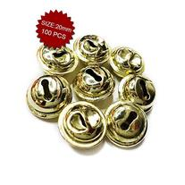 Aspire Brassy Crafted Bells, Festival Ornaments, 20mm,