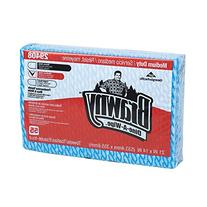 Brawny Dine-A-Wipe 29408 Blue and White 1/4 Fold Foodservice
